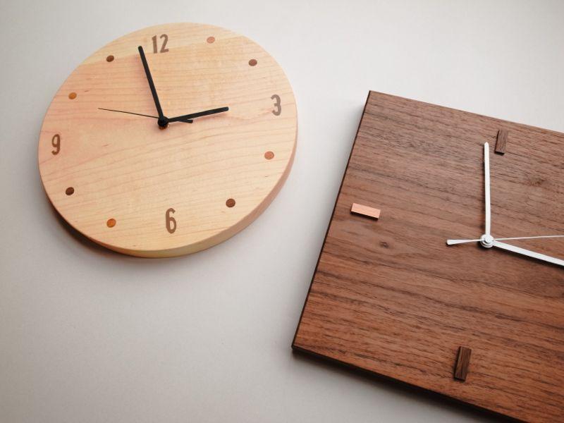 【終了】木の掛け時計