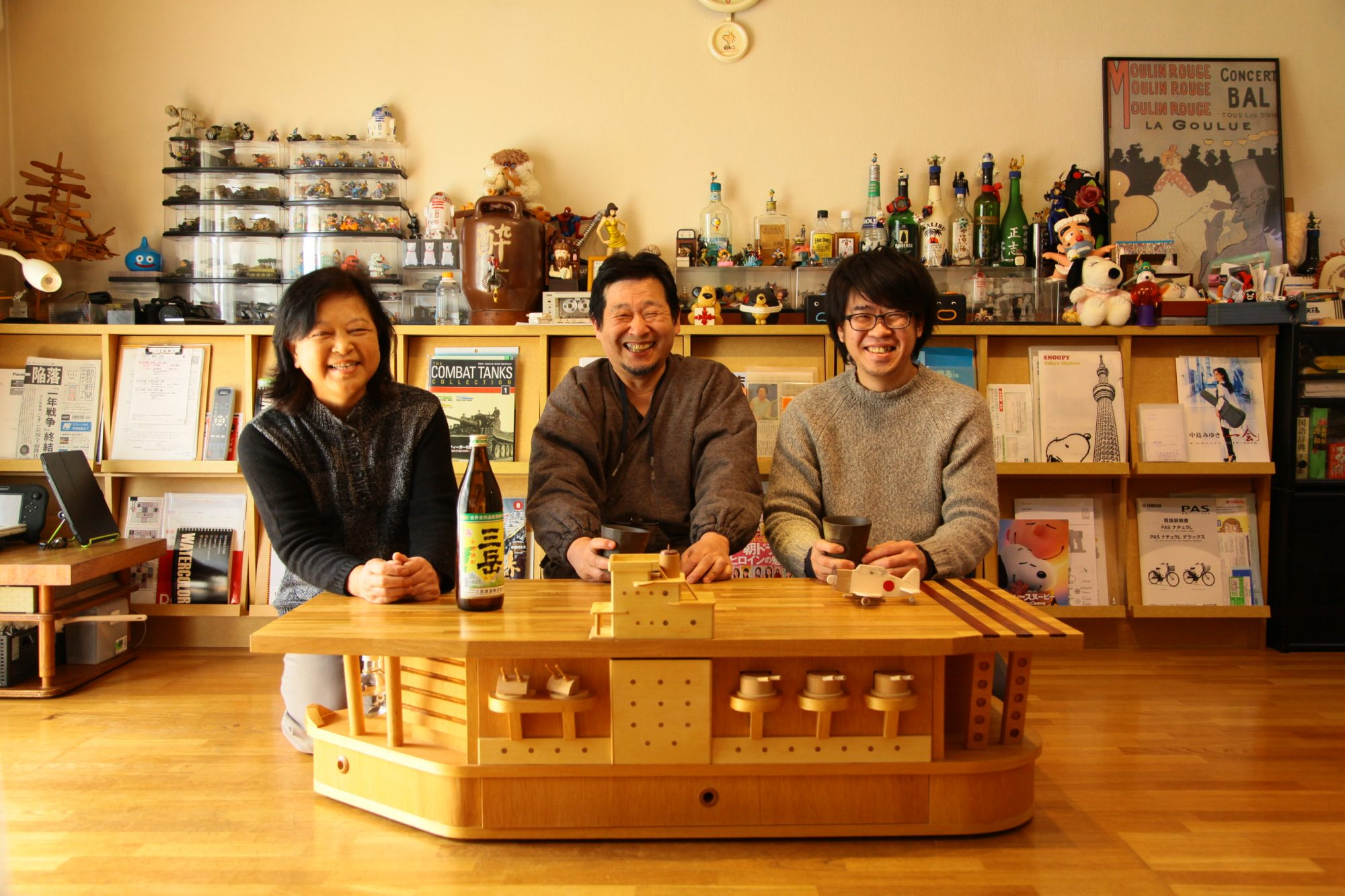 夢だった空母型のテーブルを製作。